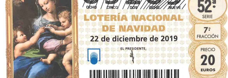 Décimo del número 85289 Lotería Navidad Asoc. Balear Fibrosis Quística