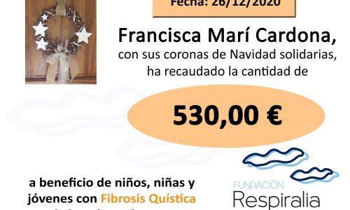 Talón donación Francisca Mir